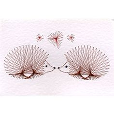Hedgehogs | Animals and Birds patterns at Stitching Cards.