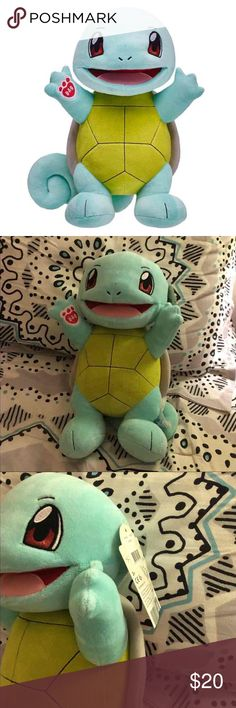 Build-A-Bear Squirtle Got this as a gift but it just sits in my room and I'm hoping someone can get more enjoyment from it than me! New Pokémon Squirtle plush from Build-A-Bear. Perfect condition, no flaws. Includes exclusive Pokémon card and birth certificate. Pokemon Other