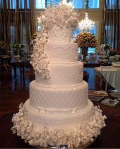 Stunning 8 tier wedding cake by Hall of Cakes London photographed at ...