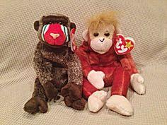 Retired Schweetheart And Cheeks Ty Beanie Babies