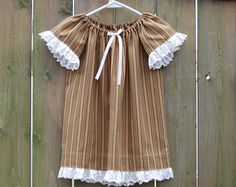 Girls Size 2-3, Upcycled Pillowcase Nightgown, Girls Cotton Nightgown, Angel Sleeves, Girls Nightgown, Flutter Sleeves, Cotton Dress