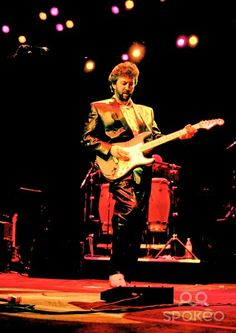 Eric Clapton performing live in concert at the Royal Albert Hall