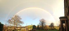 A winters rainbow over Waterton Park Hotel Waterton Park, Park Hotel, Country Roads, Rainbow, Rain Bow, Rainbows