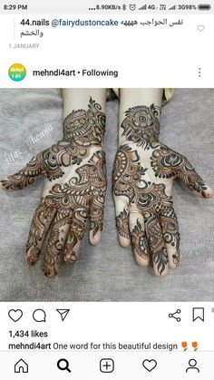 Hena Designs, Mehndi Designs, Mehendi Arts, Beautiful Mehndi Design, Hennas, Hand Henna, Hand Tattoos, Blouse Designs, Henna