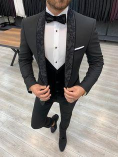Formal Men Outfit, Formal Suits, Slim Fit Tuxedo, Tuxedo For Men, Wedding Men, Wedding Suits, Men's Tuxedo Wedding, Costume Garçon, Tuxedo Colors