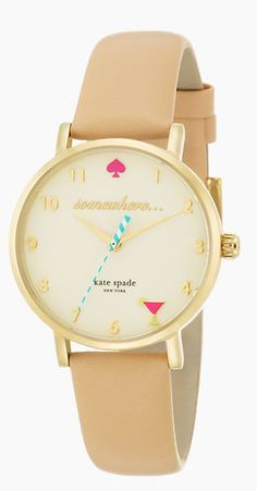 """It's 5 o'clock somwhere"" watch by kate spade"