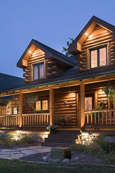Log Home Photos | Log Home Exteriors › Expedition Log Homes, LLC
