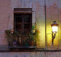 Granada window and street light -