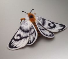 Needle felted Merino wool moth sculpture by Artisan Fibre available on etsy Beautiful Bugs, Beautiful Butterflies, Cute Moth, Cool Bugs, Faux Taxidermy, Bugs And Insects, Tier Fotos, Soft Sculpture, Bird Feathers