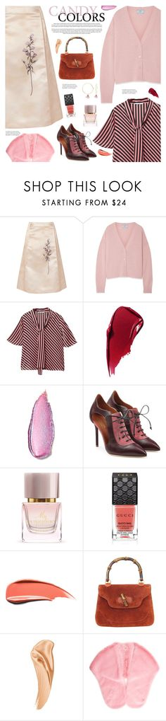 """Trend Spotting: Hot Pink"" by sproetje ❤ liked on Polyvore featuring Bottega Veneta, Prada, MANGO, Estée Lauder, Serfontaine, Stila, Malone Souliers, Burberry, Gucci and Shrimps"