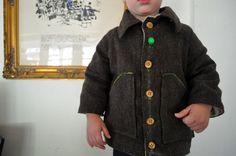 brown tweed jacket with elbow pads - Elsie Marley