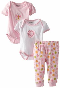 Amazon.com: Carter's Watch the Wear Baby-Girls Newborn 3 Piece Set: Clothing