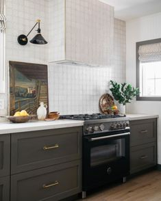 """Kirsten Blazek on Instagram: """"Though I wouldn't recommend turning on the oven today (being that it is like an oven outside in LA right now) I do love how the kitchen…"""" The Outsiders, Oven, Kitchen Cabinets, House, Highlight, Turning, Tile, Home Decor, Instagram"""