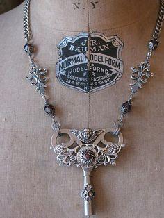 Skeleton Key Jewelry  Authentic Fancy Steel by thekeyofa on Etsy.   So Pretty.