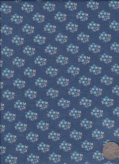 "Little Floral Blue  ""Mosaic Bloom"" designed by Rosalie Dekker."