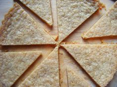Gluten Free Shortbread from my blog I'd Much Rather Bake Than...