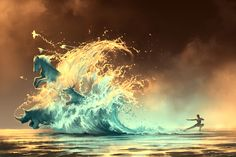 Mana Tide by AquaSixio.deviantart.com on @deviantART - The effect of water here is amazing. The quality of style is really something to aspire to.