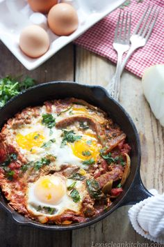 Shakshuka #glutenfree #eggs from Lexi's Clean Kitchen