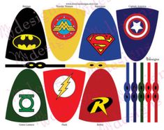 Superhero Lollipop Capes and Masks / Superhero by mwarnerdesigns