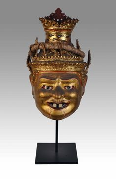 Thai Hermit mask - Private collection of Stephane Peray - French artist in Bangkok.