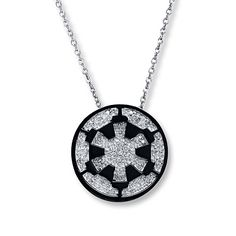 Star Wars Necklace 1/10 ct tw Diamonds Sterling Silver
