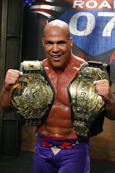 Kurt Angle - TNA World Champion and IWGP Heavyweight Champion