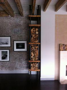 kaminholz st nder modern aus metall regal halter brennholz holz korb in m bel wohnen kamine. Black Bedroom Furniture Sets. Home Design Ideas