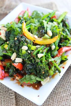 Thai Broccolini   -- with a couple of changes to recipe can be low carb goodness