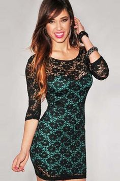 Dresses Dresses Green Round Neck Slim Package Hip Hollow Long Sleeve Dress  Color  Green Sizes  One Size Sexy Affordable Fashion Dresses 5db4deffb8af