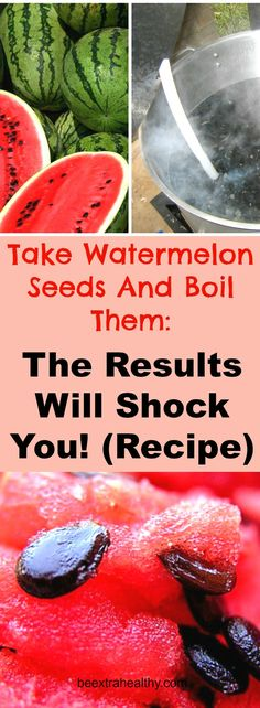 Watermelon is certainly a well-known fruit. While we all enjoy consuming this sweet rejuvenating fruit, we generally throw out the tiny seeds scattered within it without realizing or rather realizing of their health advantages. Healthy Drinks, Get Healthy, Healthy Tips, Healthy Heart, Natural Cures, Natural Healing, Herbal Remedies, Health Remedies, Watermelon Rind