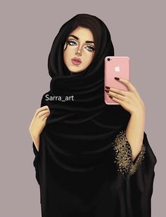 Girl Girly M, Girly Girl, Muslim Girls, Muslim Women, Sarra Art, Hijab Cartoon, Cute Girl Drawing, Islamic Girl, Cute Girl Wallpaper