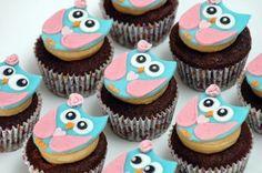 owl cupcakes Cake by Deema Ladybug Cakes, Owl Cakes, Bird Cakes, Owl Cupcake Cake, Cupcake Cookies, Pretty Cupcakes, Yummy Cupcakes, Cupcake Princesas, Yummy Snacks