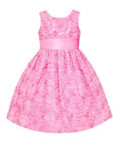 Another great find on #zulily! Ice Pink Rosette  Dress - Girls & Girls' Plus #zulilyfinds