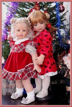 Веселые, задорные, но совсем не вздорные! Часть-2. Как куклы Моники Левениг из моей коллекции, создавали праздничное настроение. / Коллекционные куклы Masterpiece dolls / Бэйбики. Куклы фото. Одежда для кукол
