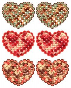 Granny Hearts. So cute and also from one of my fave crochet websites...
