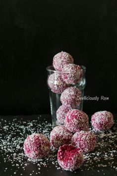 Raw Vegan Coconut & Beetroot Balls | Deviliciously Raw
