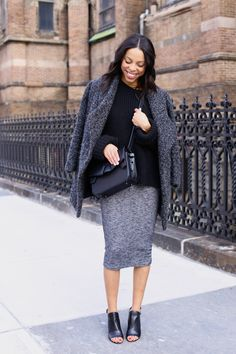 black and grey cozy layers // girls off fifth