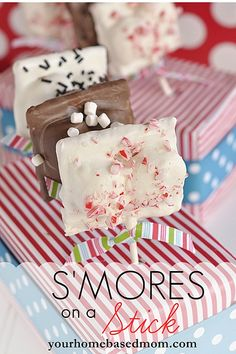 s'mores on a stick - I think I'd torch the marshmallows #giftable