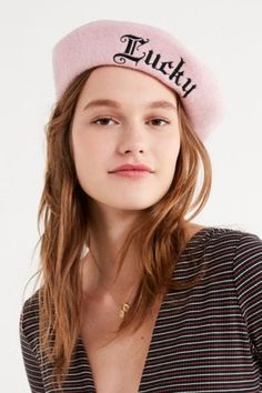 5006717f907 Shop Lucky Wool Beret at Urban Outfitters today. We carry all the latest  styles