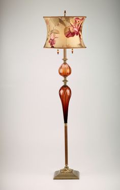 Michael by Susan Kinzig and Caryn Kinzig (Mixed-Media Floor Lamp) Bright Homes, Tiffany Lamps, Unique Lamps, Bedroom Lamps, Vintage Lamps, Lamp Design, Chair Design, Design Design, Home Lighting