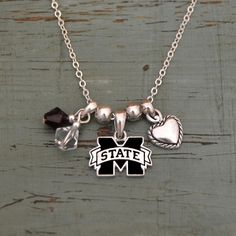 Mississippi State Bulldogs Memory Necklace