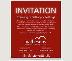 Simple and direct invitation for a valuation with strong business branding