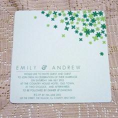 Star Flowers Wedding Invitation - Sample £3.00