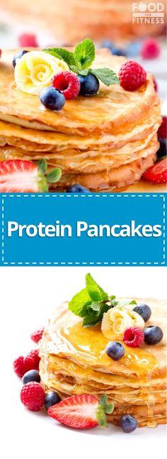 Protein Pancakes Recipe | #pancakes #protein Easy Protein Pancakes, High Protein Breakfast, High Protein Low Carb, Healthy Protein, Protein Snacks, Healthy Breakfast Recipes, Pancake Recipes, Healthy Recipes, Protein Recipes