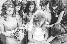 prayer before the wedding. <3 {chad & erin (bates) paine.}