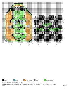 FLYSWATTER COVER FRANKENSTEIN by TRICIA Plastic Canvas Crafts, Plastic Canvas Patterns, Canvas Flyer, Superhero Template, Routine Chart, Bottle Cover, Car Air Freshener, Coaster Set, Needlepoint