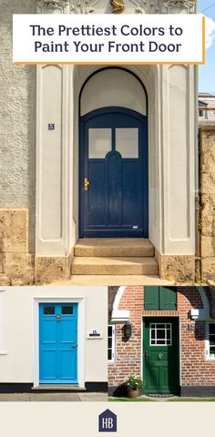 30 Front Door Colors and Ideas for the Prettiest House on the Block - It& the easiest way to add instant curb appeal. Family House Plans, Country House Plans, Country Farmhouse, Farmhouse Decor, Spanish Style Homes, Ranch Style Homes, Front Door Paint Colors, Primitive Homes, Mediterranean Home Decor