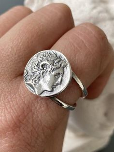 Greek Ring Sterling silver ring textured silver ring handmade in Greece Wrap ring two layer ring made In greece Check our Ring Size Chart to help you size you