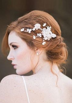 red-hair-bride-floral-headpiece.jpg (620×885)