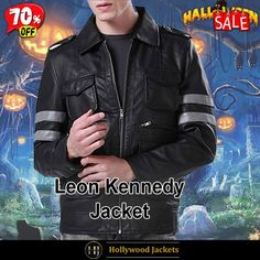 #Halloween Hot offer Get 70% #VideoGame Resident Evil 6 Biker #LeonKennedy Grey Striped Jacket. #HalloweenSale #Halloween #Sale #2021 #OOTD #Style #Cosplay #Costum #men #fashionstyle #women #coat #shopnow #Clothes #leather #discountoffer #outfit #onlineshopping #discount #buymypremium #celebrities #offers #fashion